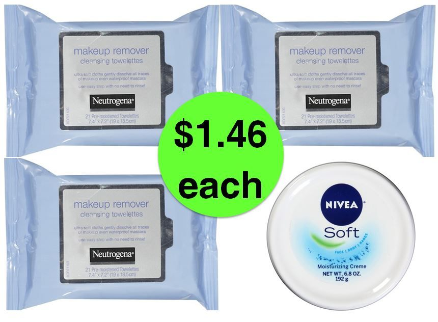 CHEAP Facial Wipes Alert! Score (3) Neutrogena Facial Wipes & (1) Nivea Lotion Only $1.46 Each at Target! ~ Ends Saturday!