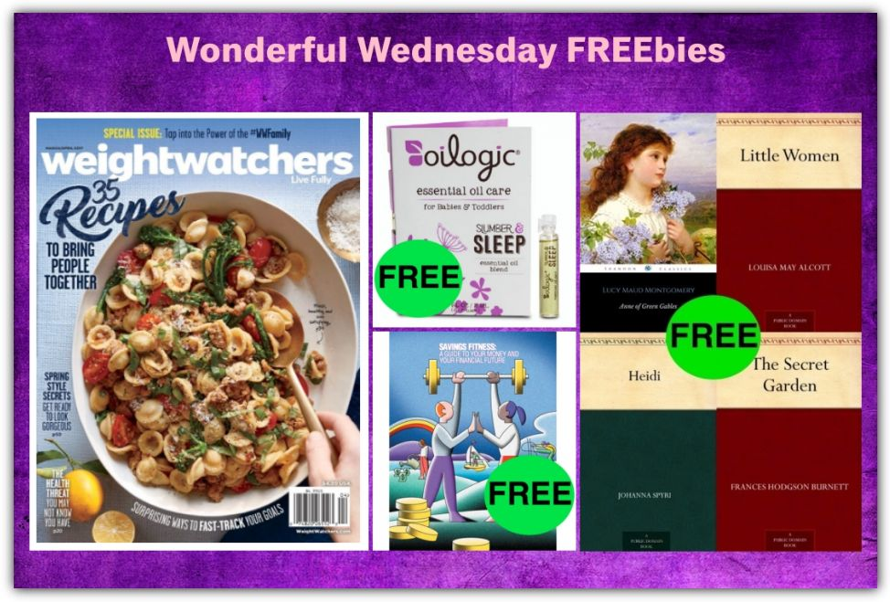 FOUR FREEbies: Annual Subscription to Weight Watchers Magazine, Oilogic Essential Oil Blend, Classic eBook Roundup and Savings Fitness eBook!