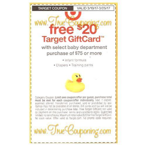 Target Baby Coupon Coming Sunday, 3/19 ~ FREE $20 Gift Card wyb ...