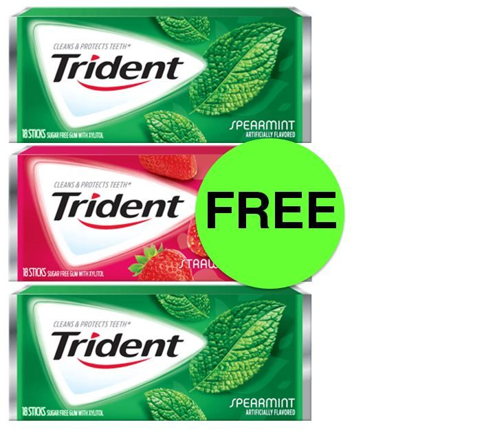 THREE (3!) FREE Trident Gum Singles at Target! ~ This Week Only!