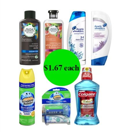 RIGHT NOW Get Almost $34 of Hair Care, Scrubbing Bubbles & Colgate Mouthwash for $11.70 TOTAL at Walgreens!