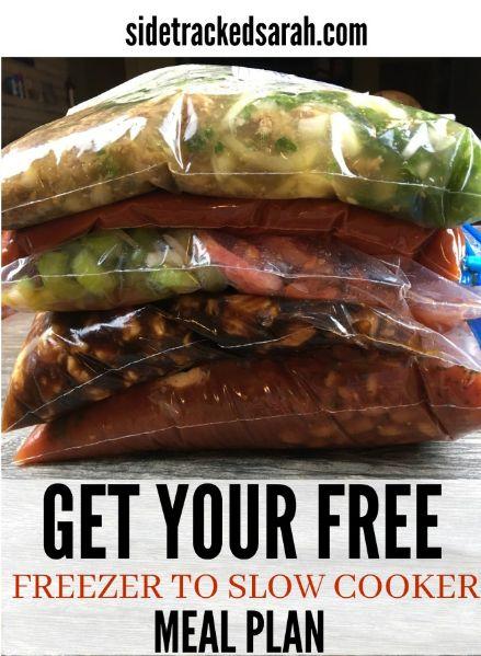 FREE Freezer to Slow Cooker Meal Plan!