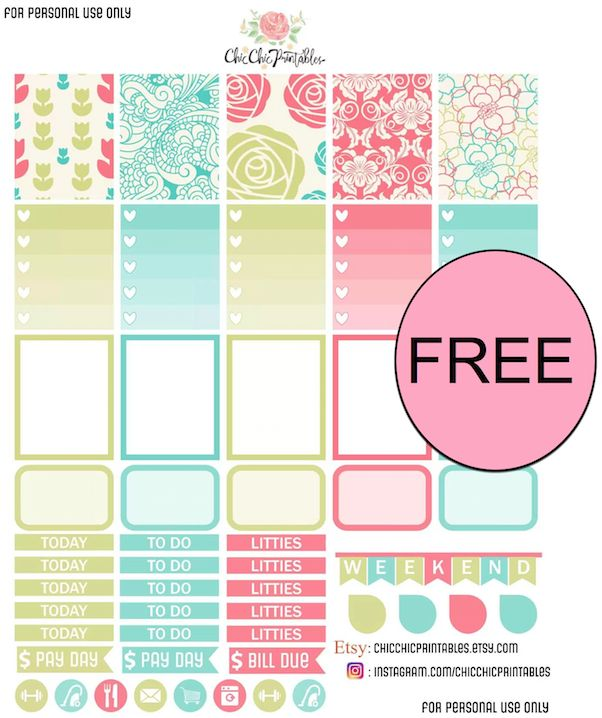 FREE Spring Planner Stickers Printable!