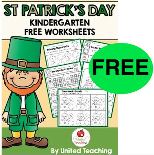 FREE St. Patrick's Day Kindergarten Worksheets!