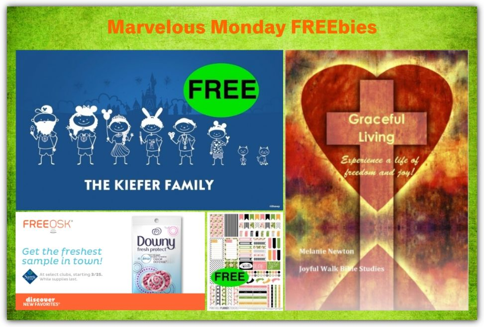 FOUR FREEbies: Disney Family Decal, Downy Fresh Protect, Spring Planner Printable Stickers and Women's Bible Study!