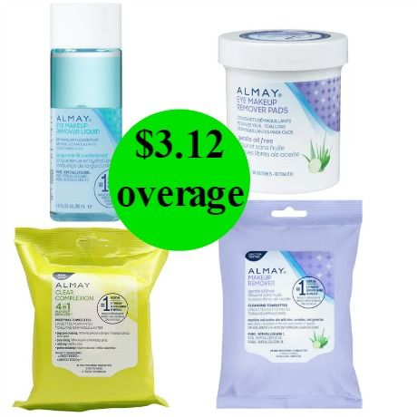 Grab Your FOUR (4!) FREE + $3.12 Money Maker Almay Makeup Removers Right Now at Walgreens! ~ Ends Saturday!