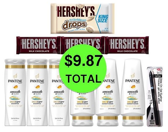 For Only $9.87 TOTAL, Get (1) Eyeliner, (4) Hershey's Candies & (6) Pantene Hair Care This Week at CVS!