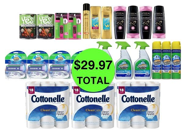 For Only $29.97 TOTAL, Get (2) Soups, (2) Mascaras, (3) TP 18 Packs, (7) Hair Care & (10) Bathroom Cleaners This Week at CVS!