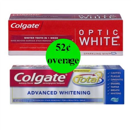 GET PAID 52¢ to Brush with Colgate Optic White Or Total Advanced Toothpastes at Walgreens! ~ Ad Starts Today!