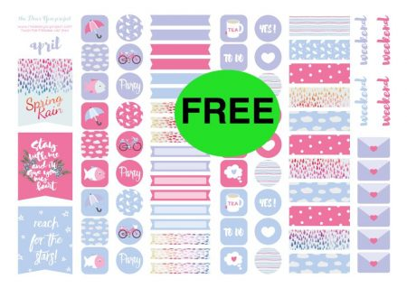 photo relating to Free Planner Sticker Printables identify Take The Great Free of charge Every month Planner Sticker Printables