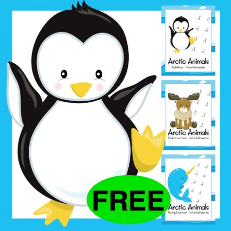 Attention Homeschool Moms! Get Your FREE Arctic Animal Math Bundle!
