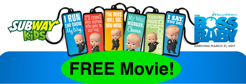FREE Child's Movie Ticket for The Boss Baby!