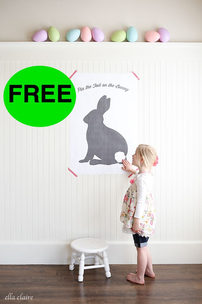 free pin the tail on the bunny printable