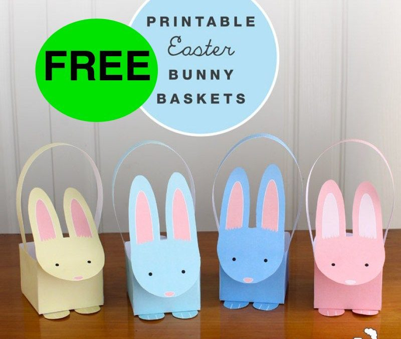 FREE Printable Easter Baskets!