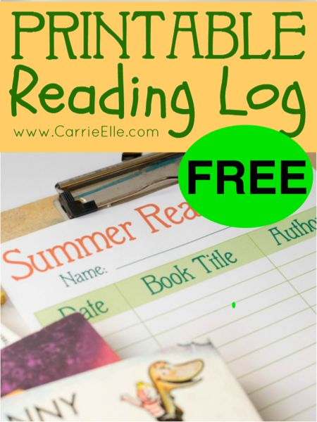 Print Your Summer Reading Log & Be Ready To Get FREE Books This Summer!