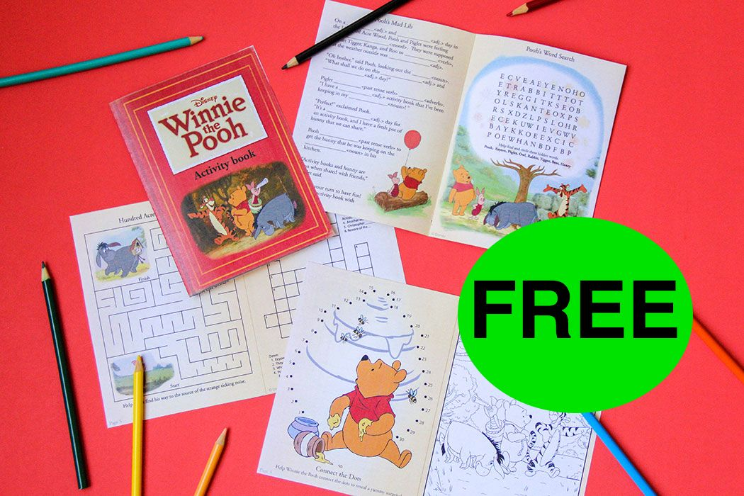 FREE Winnie the Pooh Printable Activity Book!