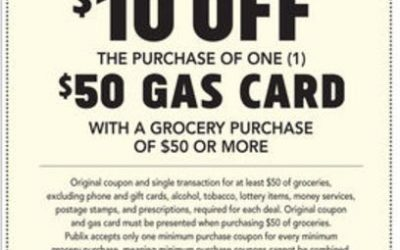 Publix Gas Card Deal Don't Miss Your $10 Off! (1/24 – 1/28 or 1/25 – 1/28)