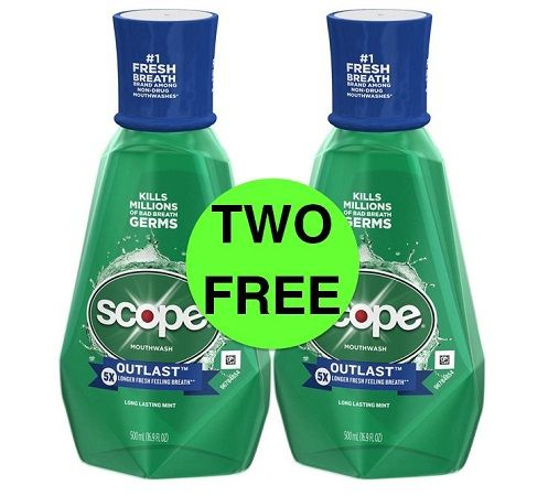 Sneak Peek CVS Deal: (2) FREE Scope Mouthwashes! (7/14-7/20)