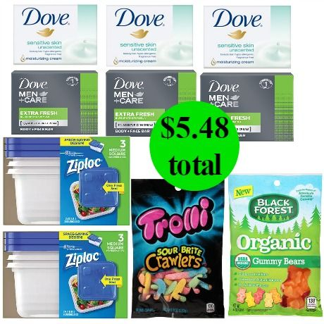 Don't Miss the Almost $20 of Dove Soap, Ziploc Containers & Candy You Get This Week at Walgreens for Only $5.48!