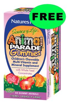 FREE Animal Parade Gummy Vitamins!