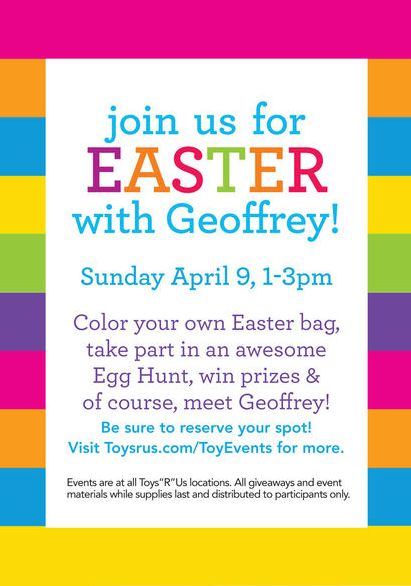 FREE ToysRUs Easter Egg Hunt!
