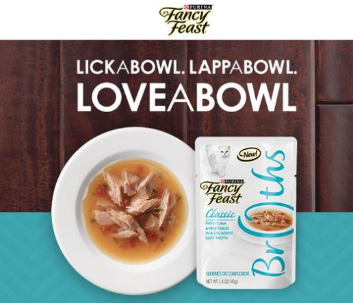 FREE Fancy Feast Broths Cat Food!