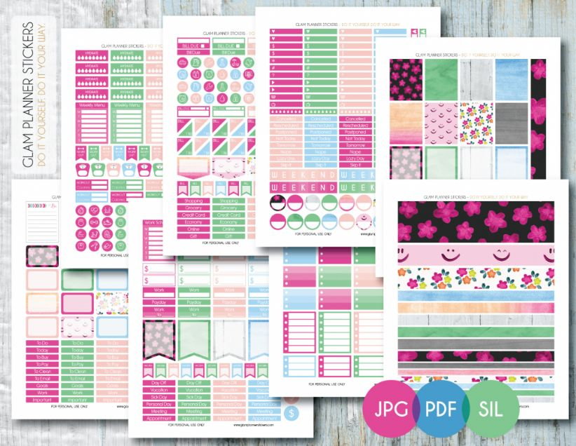 FREE Spring Planner Stickers!