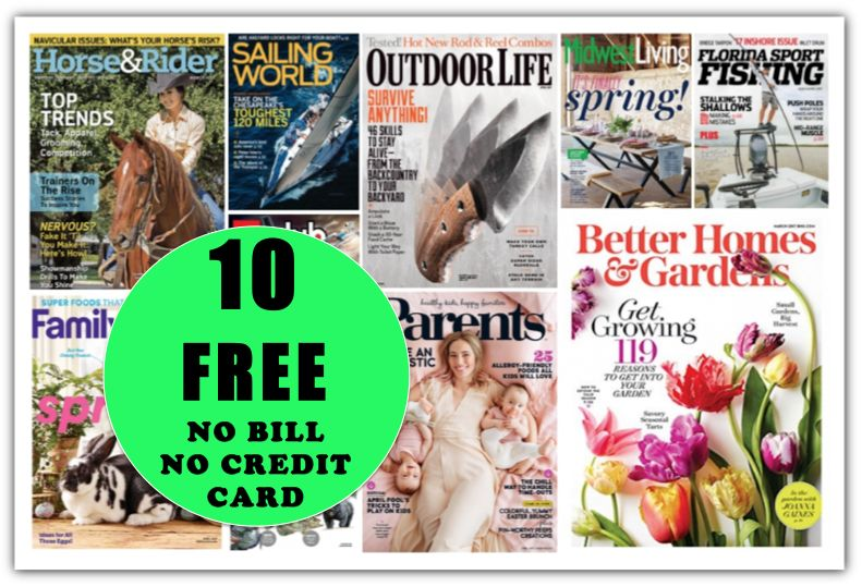 And Then There Were TEN {10!} FREE Magazine Subscriptions! Get Your Favorite Before It's GONE!