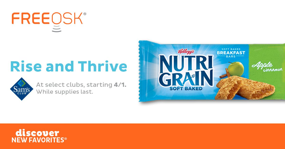 FREE NutriGrain Bar at Sam's Club!