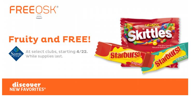 FREE Skittles at Sam's Club!