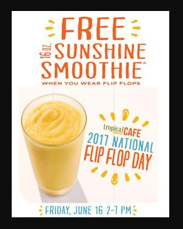 FREE Sunshine Smoothie from Tropical Smoothie Cafe on June 16th!