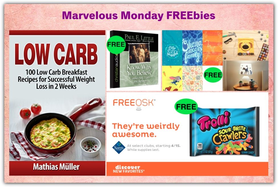 FOUR FREEbies: Trolli Sour Brite Crawlers at Sam's Club, Know Why You Believe Audiobook, 100 Low Carb Breakfast Recipes eBook and Disney Family Craft Activities!