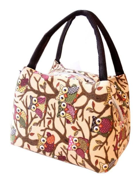Super Cute Owl Insulated Lunch Tote UNDER $5 SHIPPED