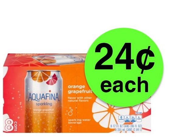 Pick Up Aquafina Sparkling 8 Packs JUST $0.24 Each at Target! ~ Going On Now!