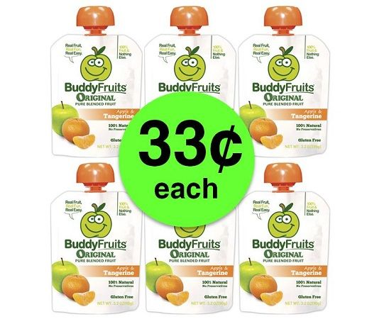Nab 33¢ Buddy Fruits Pure Blended Fruit Pouches at Publix! ~ Starts Weds/Thurs!