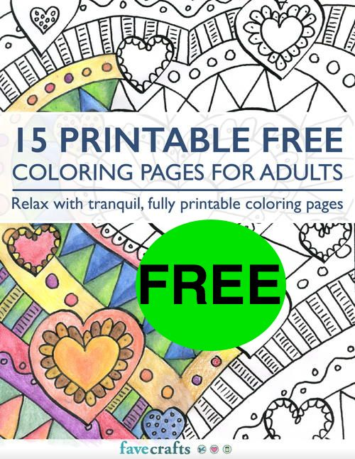 FREE Adult Coloring Book!