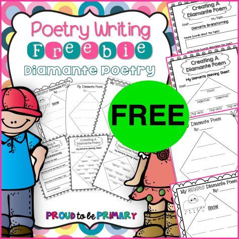FREE Diamante Poetry Mini Unit Printable!