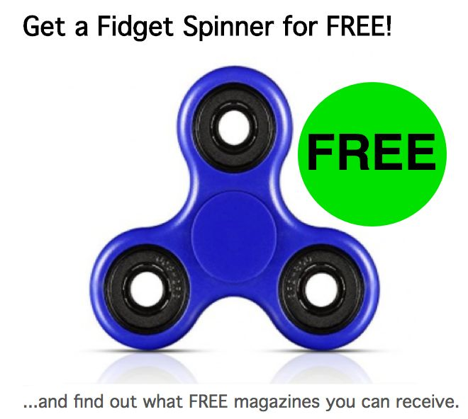 No Longer Available: FREE Fidget Spinner! {Yes, Entirely FREE! $0 Shipping too!}