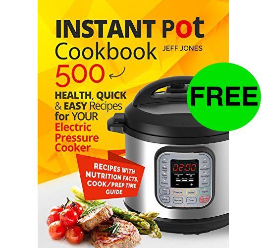 FREE 500 Instant Pot Recipes eCookbook!