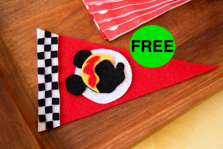 FREE Mickey & the Roadsters Racers Pennant!
