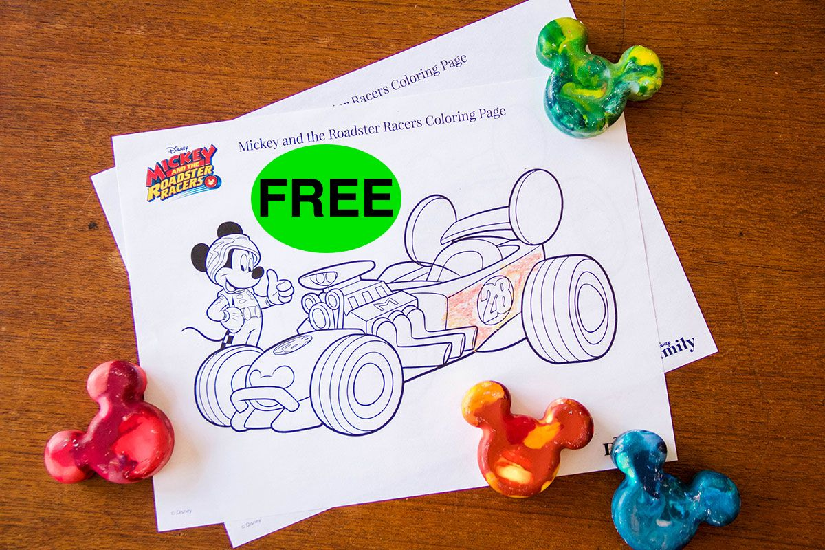FREE Mickey and the Roadster Racers Printable Coloring Pages!