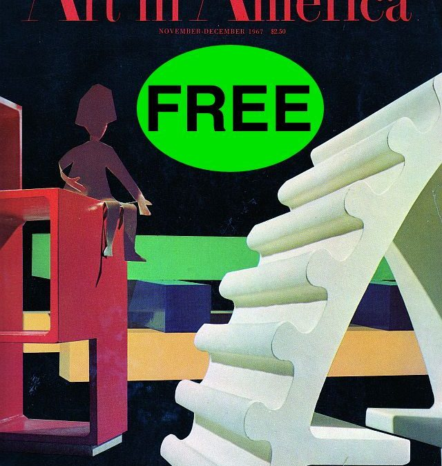 FREE Annual Subscription to Art in America Magazine {$39 Value}!