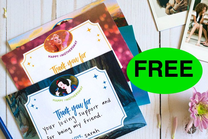 FREE Disney Princess Printable Mother's Day Cards!