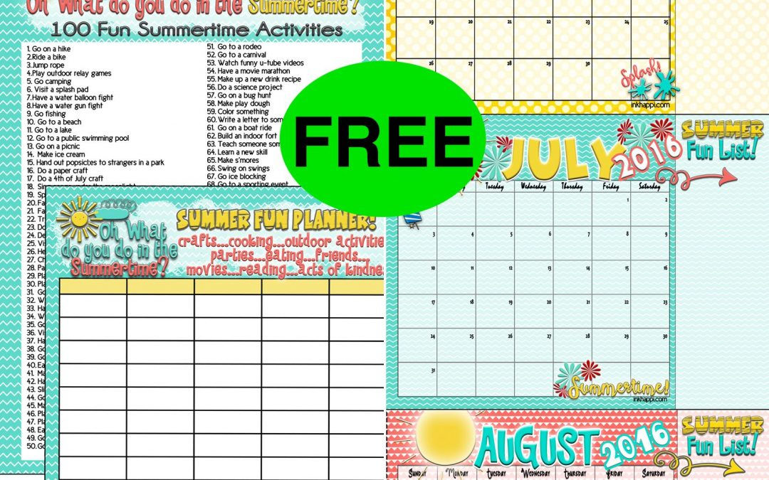 Plan Some Summer Fun with This FREE Summer Activities and Calendar Printable!