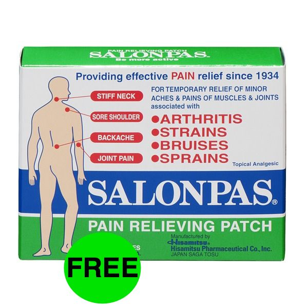 FREE Salonpas Pain Relieving Patch!