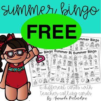 FREE Summer Bingo Printable!
