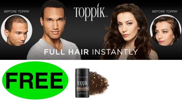 FREE Toppik Hair Building Fibers!