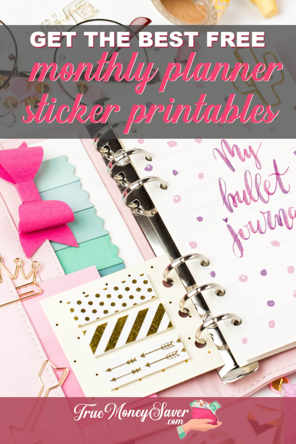 Looking for some FREE monthly planner sticker printables? You\'ve found the best list monthly planner printable free stickers I could find! So let\'s get started decorating our planners with these cute monthly planner printable!