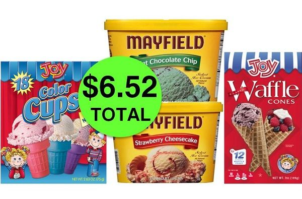 I SCREAM for TWO (2!) Mayfield Ice Creams AND TWO (2!) Joy Cones JUST $6.52 Total at Publix! ~ NOW!