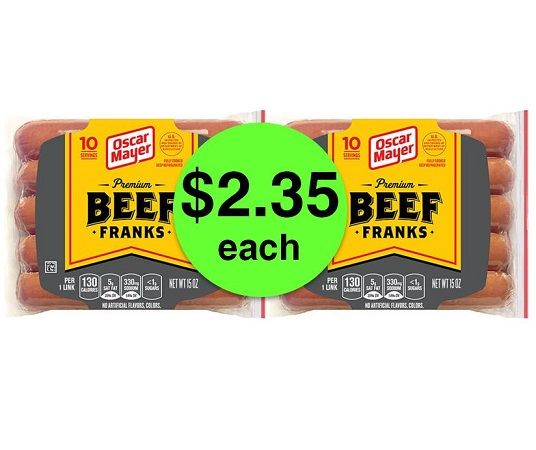 Nab Oscar Mayer Beef Franks ONLY $2.35 Each at Publix! ~ Ends Tues/Weds!